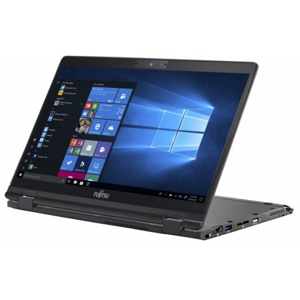 "Fujitsu LIFEBOOK U939X 2in1 - 13.3"" FullHD IPS TOUCH, Core i7-8665U, 16GB, 512GB SSD, Microsoft Windows 10 Professional - Fekete Üzleti Laptop 3 év garanciával Hibrid"