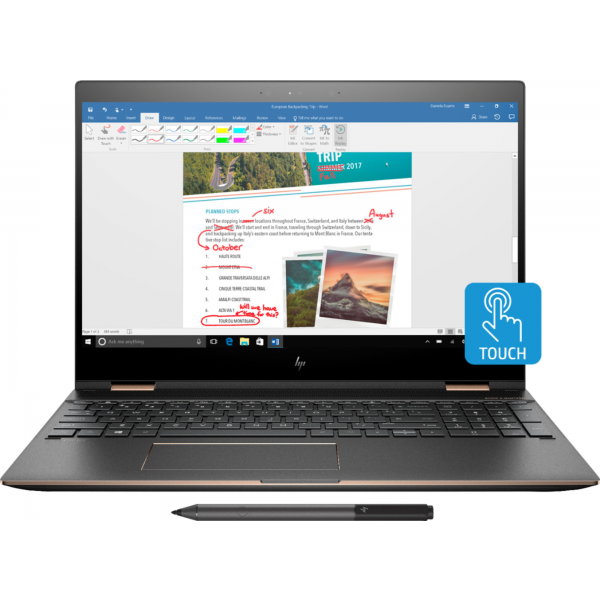 "HP Spectre 2in1 x360 (RENEW) - 13.3"" FULLHD, Core i5-8265U, 8GB, 256GB SSD, Microsoft Windows 10 Home - Szürke-Arany Átalakítható Laptop Hibrid"
