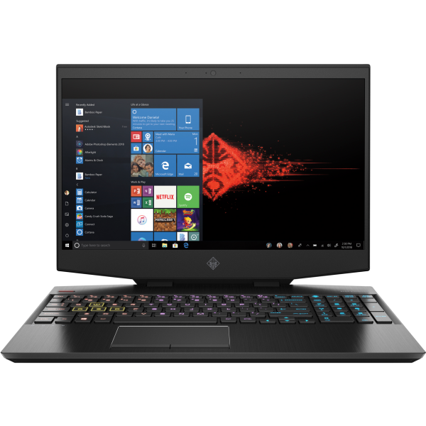 OMEN by HP 15-DH0013NH - 15.6 FullHD IPS 144Hz G-Sync, Core i7-9750H, 32GB, 512GB SSD, nVidia GeForce RTX 2070 8GB, Microsoft Windows 10 Home - Fekete Brutális Gamer Laptop 3 év garanciával Laptop