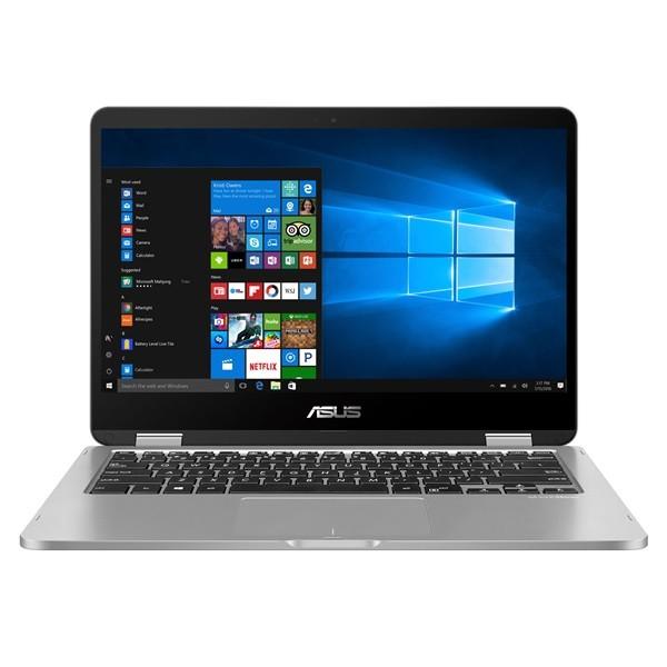 "Asus VivoBook Flip 14 (TP401MA) - 14.0"" FullHD TOUCH, Pentium QuadCore N5000, 4GB, 128GB eMMC, Microsoft Windows 10 Home - Szürke Átalakítható Laptop Laptop"