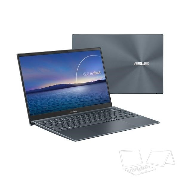 "Asus ZenBook 13 (UX325JA) - 13.3"" FullHD IPS, Core i7-1065G7, 16GB, 512GB SSD, Microsoft Windows 10 Home - Fenyőszürke Ultrabook Laptop"
