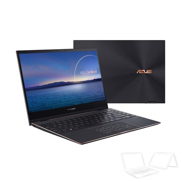 "Asus ZenBook Flip 13 (UX371EA) - 13.3"" UHD OLED Touch, Core i5-1135G7, 8GB, 512GB SSD, Microsoft Windows 10 Home - Jade Fekete Átalakítható Ultrabook Hibrid"