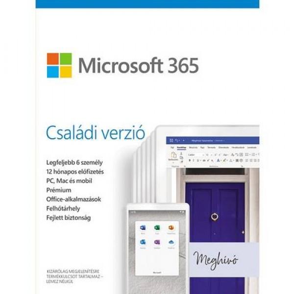 Microsoft 365 Családi Verzió MSR Szoftver