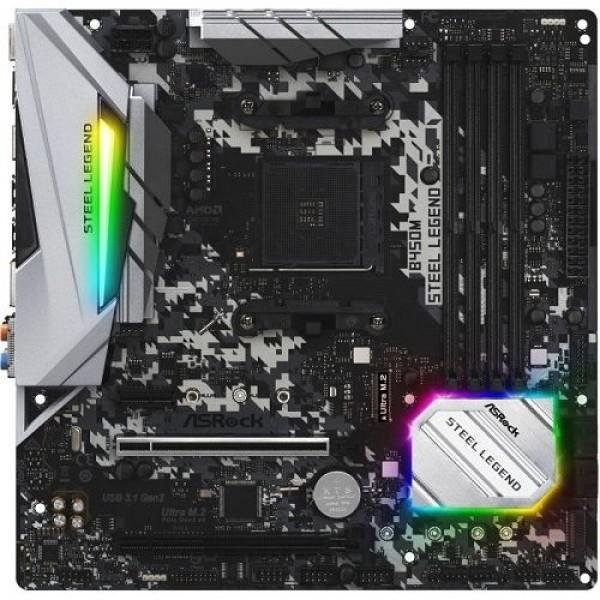 PC alaplap ASRock B450M Steel Legend (90MXB9Y0-A0UAYZ) PC