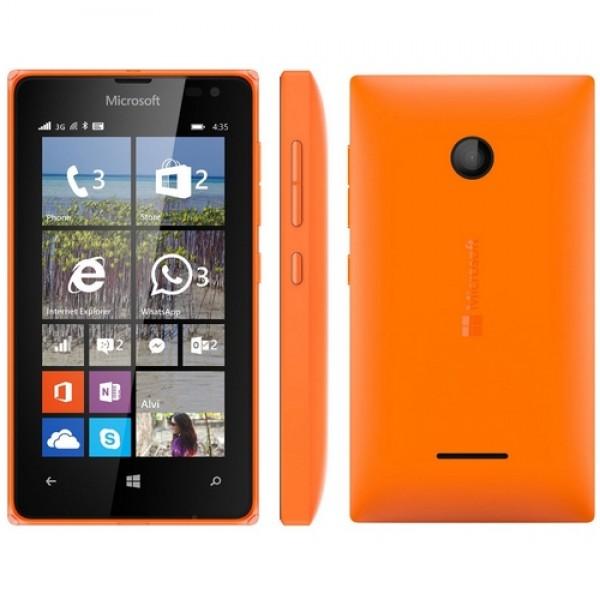 Microsoft Lumia 435 DualSim Okostelefon - Narancs Okostelefon