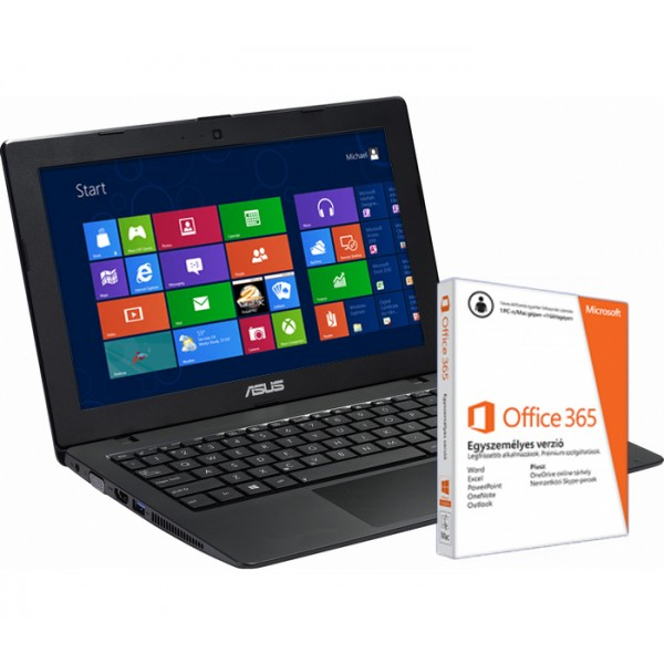Asus X200MA-KX283D Black Win8 +O365 Laptop