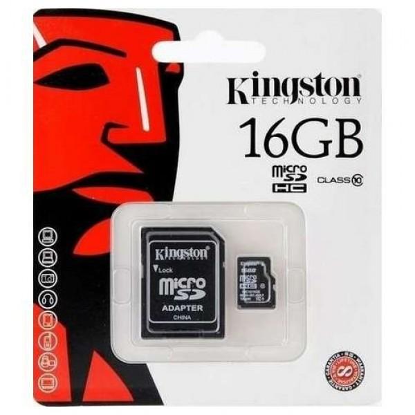16 GB Micro SDHC Card Kingston (C10 SDC10-16GB) Kiegészítők