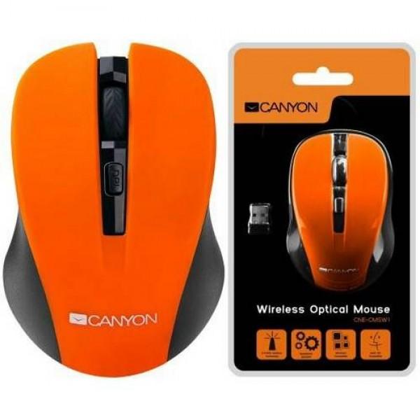 Egér CANYON Wireless Optical Black/Orange CNE-CMSW1O Kiegészítők