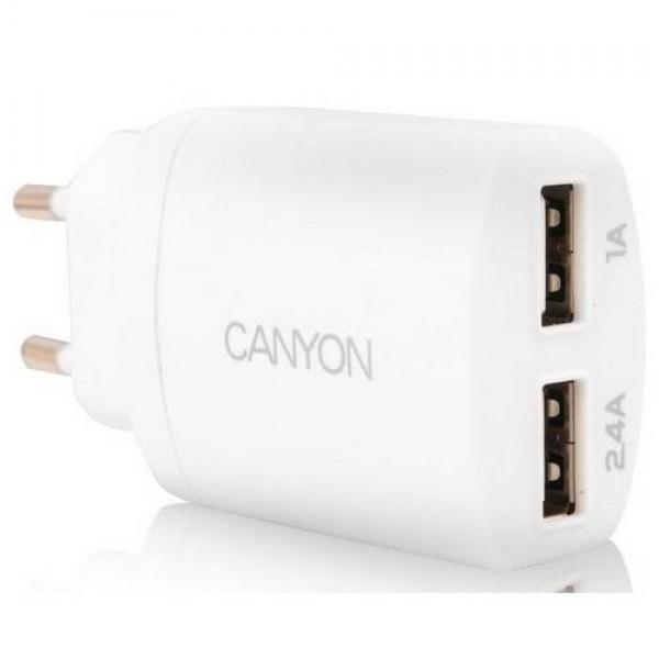 CANYON Dual USB Home Charger White (CNE-CHA22W) Kiegészítők