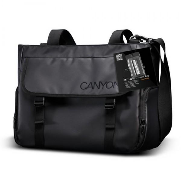 Laptop válltáska CANYON Black (CNL-MBNB14) Laptop táska
