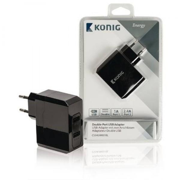 König Double-Port USB Adapter 220V Kiegészítők