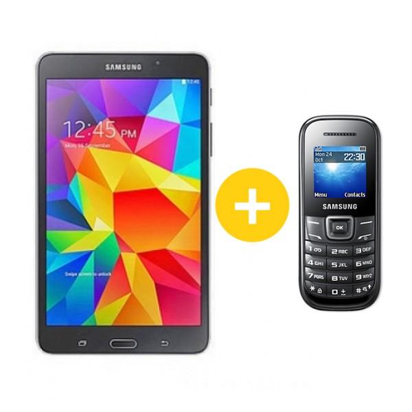 Samsung Galaxy Tab4 7.0 Wifi Black +Samsung E1200 telefon Tablet
