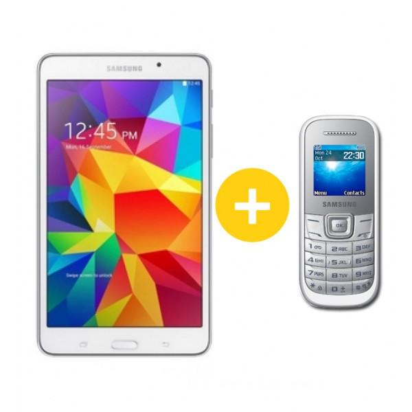 Samsung Galaxy Tab4 7.0 Wifi White +Samsung E1200 telefon Tablet