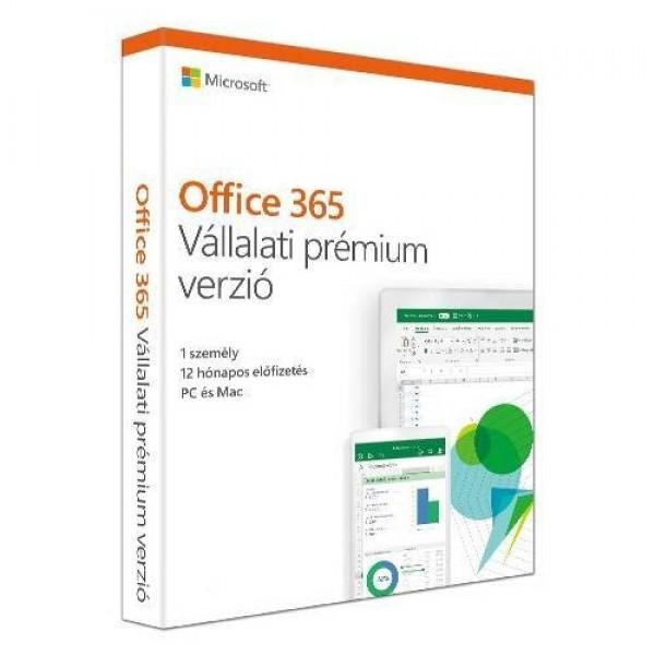 Microsoft Office 365 Vállalati prémium verzió 1Y MSR Szoftver