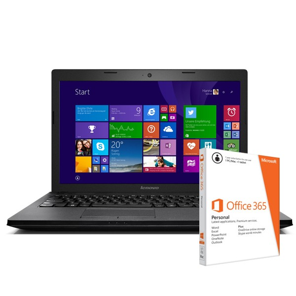 Lenovo G510 Black 59-433055 Win8 + O365 Laptop