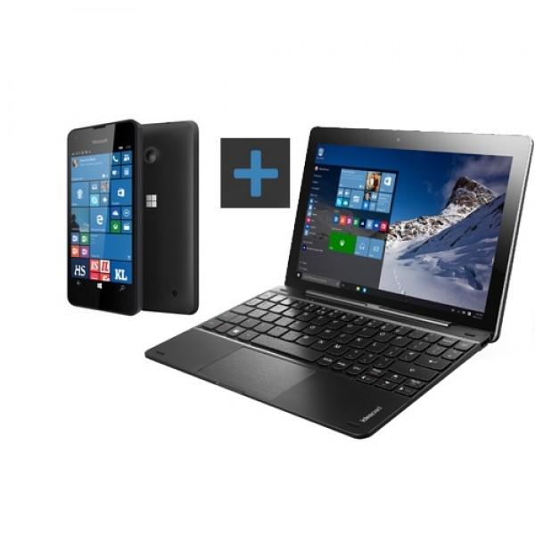 Lenovo Miix 300 80NR004NHV 2in1 + Lumia 550 Fekete Tablet