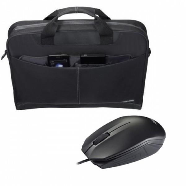 Laptop táska Asus Nereus + Egér Black Laptop táska