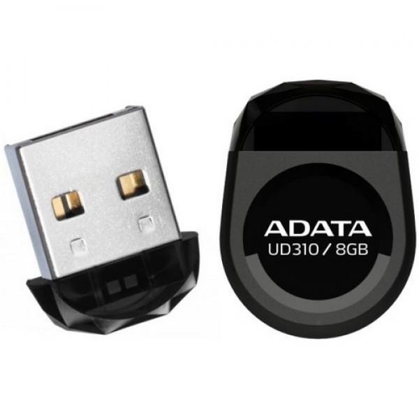 Adata Pendrive 8 GB USB 2.0 Black (AUD310-8G-RBK) Kiegészítők