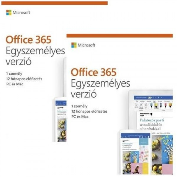 Microsoft Office 365 Egyszemélyes 2x1év előfizetés MSR Szoftver