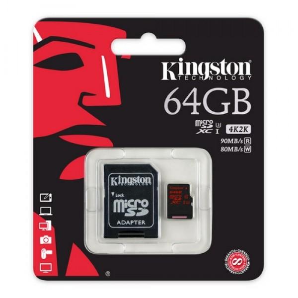 64 GB Micro SDHC Card Kingston Kiegészítők