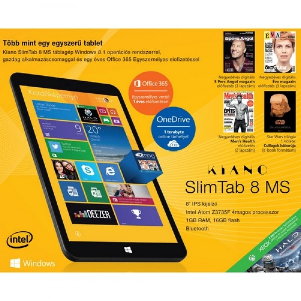 "KIANO SlimTab 8"" MS Black W8.1 Tablet"