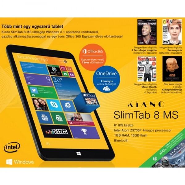 """KIANO SlimTab 8"""" MS Black W8.1 Tablet"""