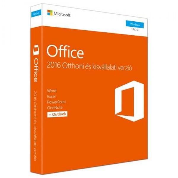 Microsoft Office 2016 Otthoni és kisvállalati verzió Szoftver