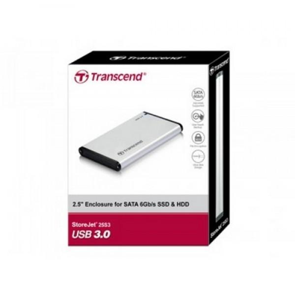 """USB 3.0 2,5"""" SATA HDD ház Transcend Kiegészítők"""