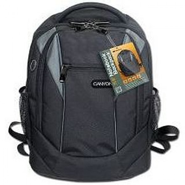 "CANYON Backpack 15,6"" Black/Grey (CNR-FNB01) Laptop táska"