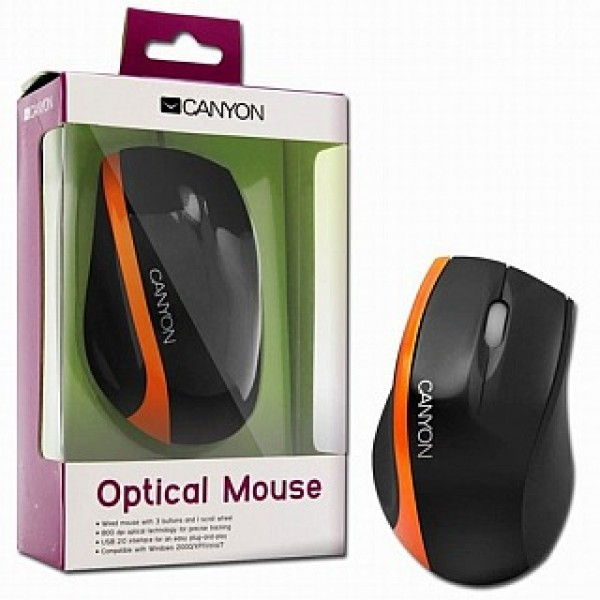 Egér CANYON USB Optical Black/Orange (CNR-MSO01NO) Kiegészítők