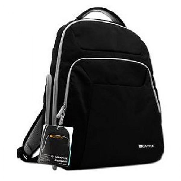 """Laptop hátizsák CANYON 16"""" Black/Grey (CNR-NB24) Laptop táska"""