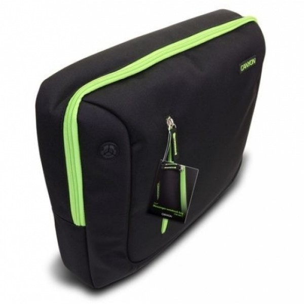 "Laptop táska CANYON 16"" Black/Green (CNR-NB17L1) Laptop táska"