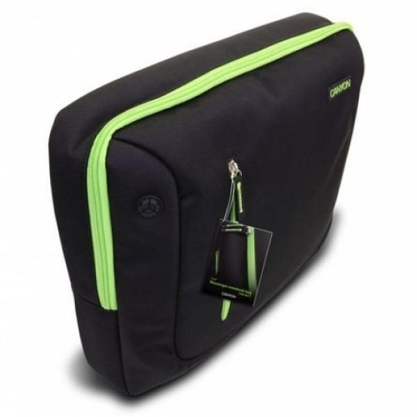 """Laptop táska CANYON 16"""" Black/Green (CNR-NB17L1) Laptop táska"""