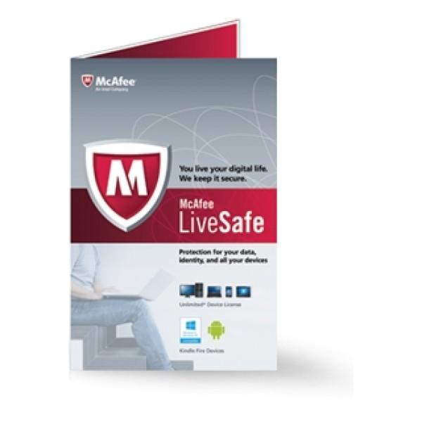 Szoftver McAfee LiveSafe PKC Kiegészítők