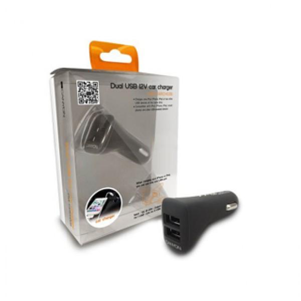CANYON Dual USB 12V Car charger Black (CNA-CARCH02B) Kiegészítők