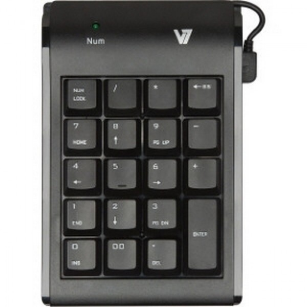 USB Numerikus billentyűzet V7 Black (KP0N1) Kiegészítők