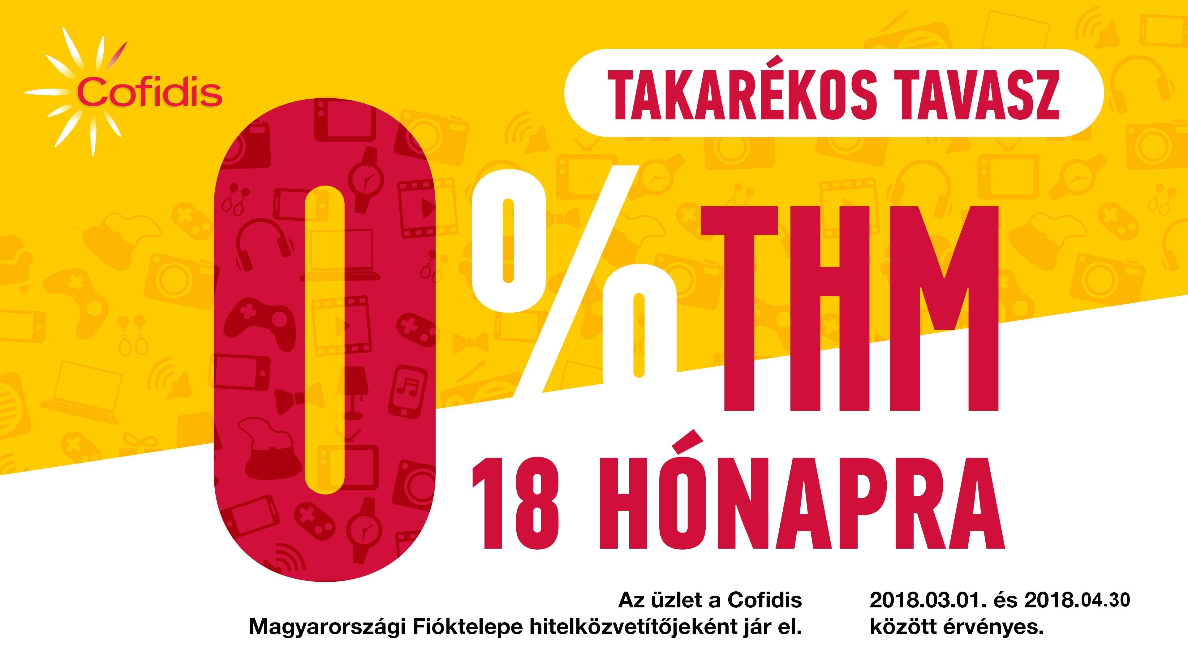 Cofidis 0% THM TAVASZI AKCIÓ