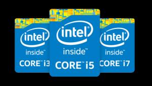 Intel Core i3, i5, i7