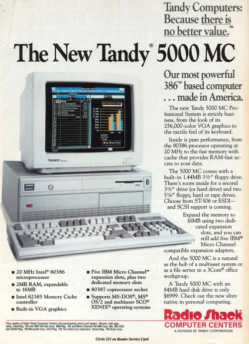 Tandy PC 5000